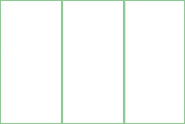 DIN A4 Flyer mit drei Spalten