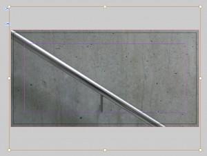 Flyer in Indesign: Der Bildrahmen des platzierten Bildes für die Größe und Lage.