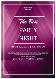 Party-Flyer mit Word