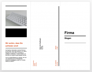 Business-Flyer mit Powerpoint