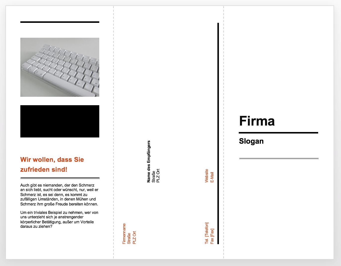 Business-Flyer mit Powerpoint