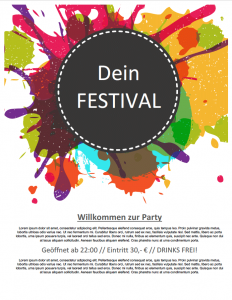 Party-Festival-Flyer in Word | Flyer-Vorlagen